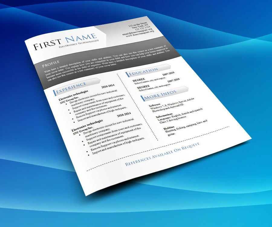 CV resume templates – Free CV Template dot Org