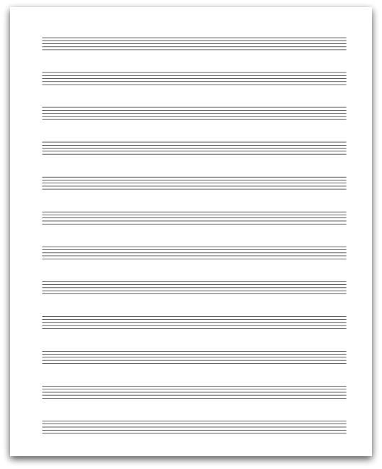 Staff Paper - All About Music Theory.com