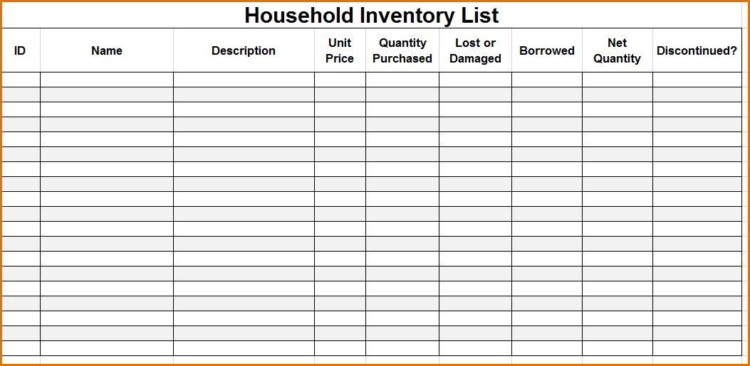 12+ inventory checklist template | Job Resumes Word