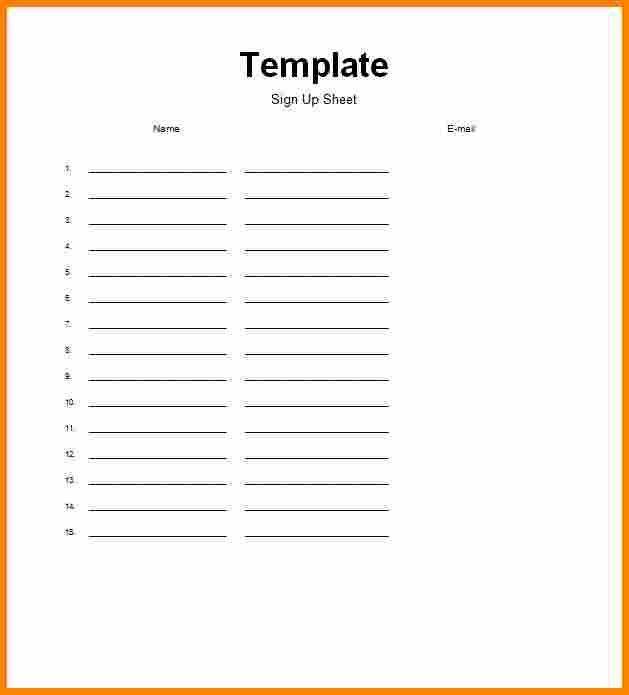 4+ sign up sheet word template   mileage tracker form