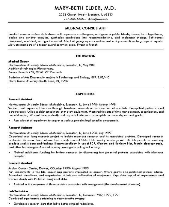 Resume Templates For Doctors 13 Medical Student Sample - Medical ...