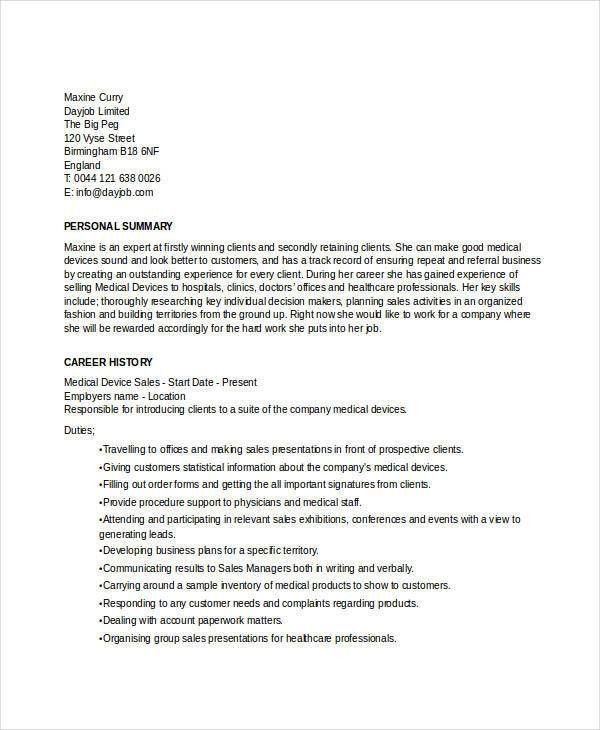 Best Sales Resume - 26 Free Word, PDF Documents Download | Free ...