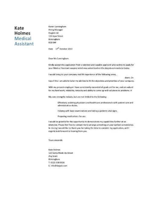 medical assistant resume cover letter with Cover letter example ...