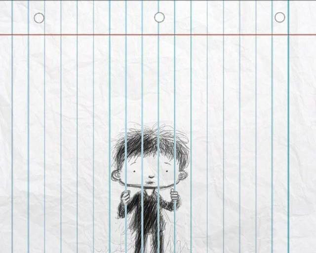 FUN INVENTORS: Optical illusion Drawing on lined paper! | Art ...