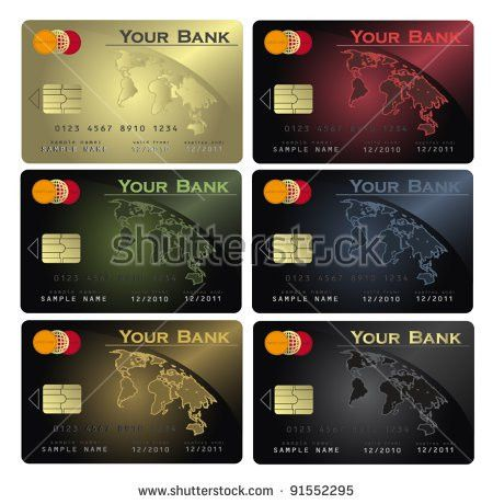 Credit Card Template Stock Images, Royalty-Free Images & Vectors ...
