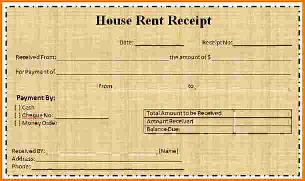House rent receipt | Authorization Letter Pdf