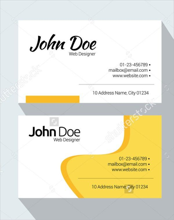 8+ Sample Name Cards - PSD, Vector EPS