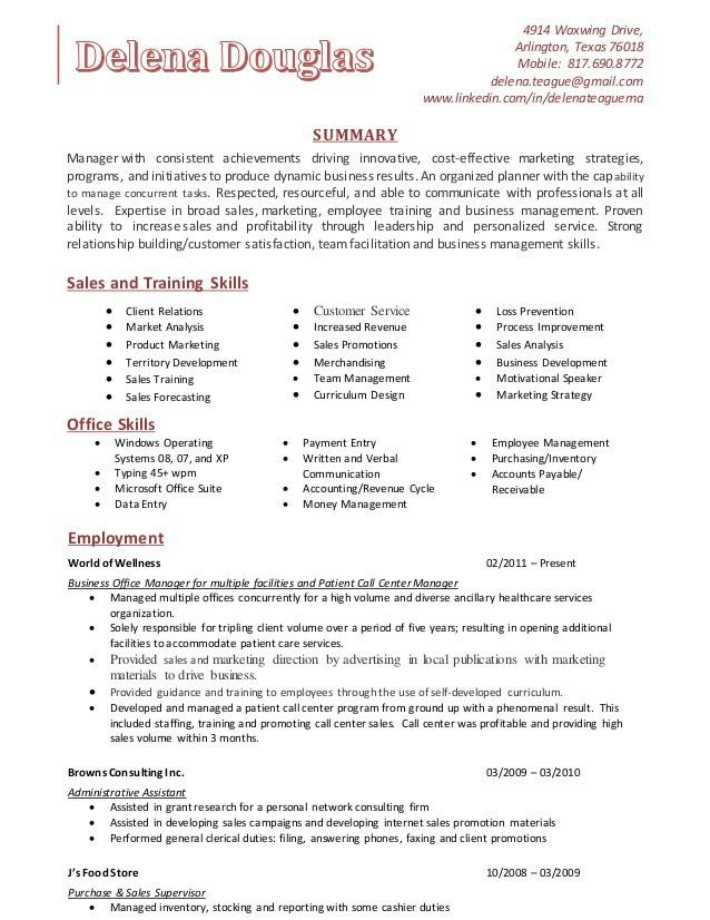 Delena Teague - Training Skills Resume (1)