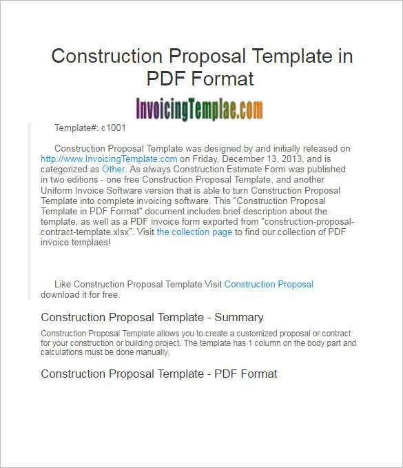 Construction Proposal Template || Free & premium Templates ...