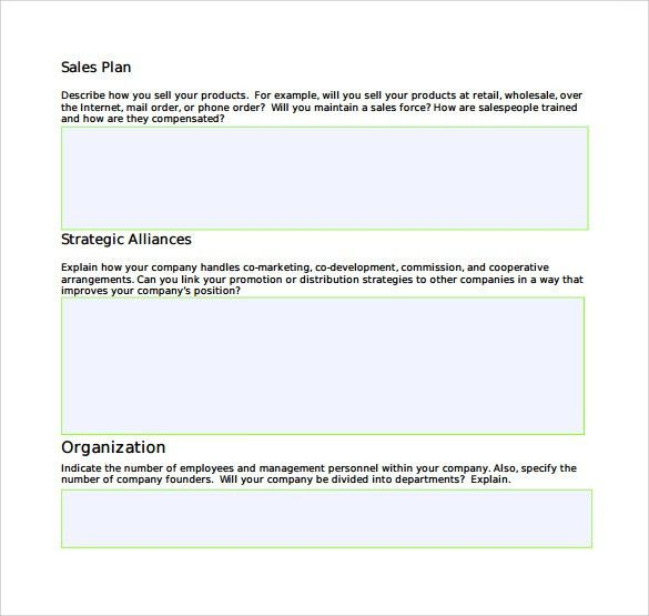 Sales Plan Templates - Word Excel Samples
