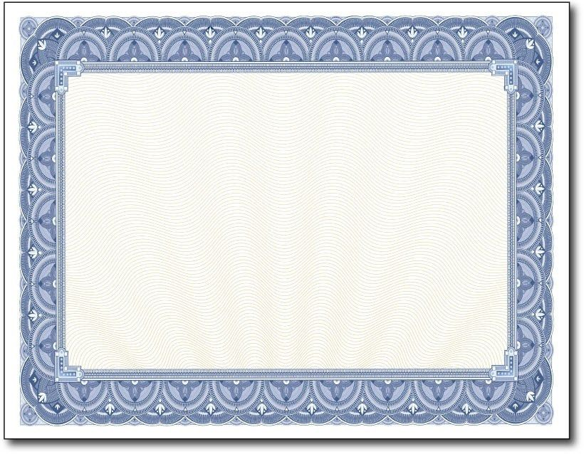15 New Blue Border Certificate Templates | Blank Certificates