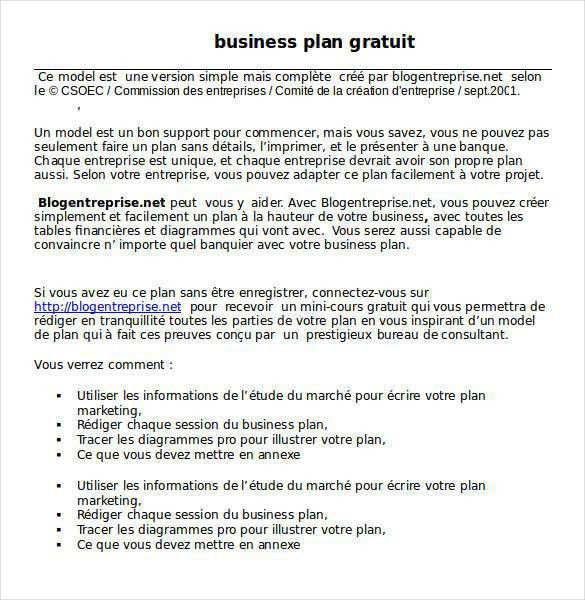 Business Plan Templates -33+ Examples in Word | Free & Premium ...