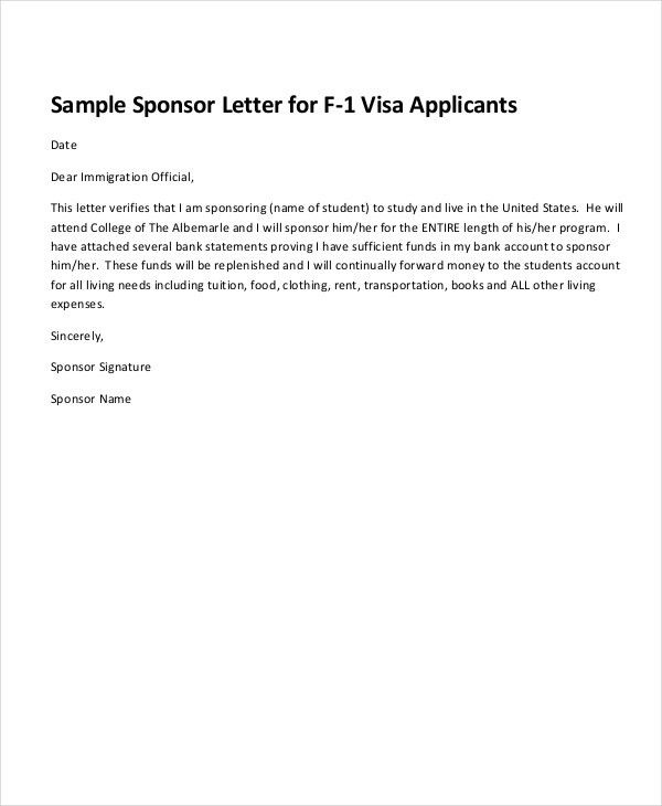 Sponsorship Letter Example - 13+ Free Word, PDF, PSD Documents ...