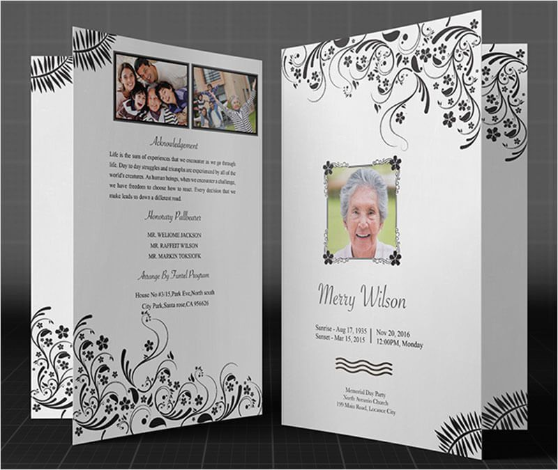 Funeral Brochure Templates - Free PSD Templates | Creative Template