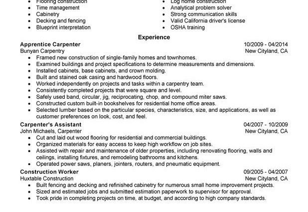 Helper electrician resume