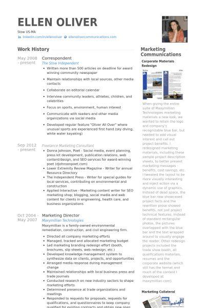 Correspondent Resume samples - VisualCV resume samples database