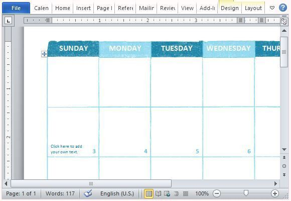 Free Academic Calendar Template for Microsoft Word