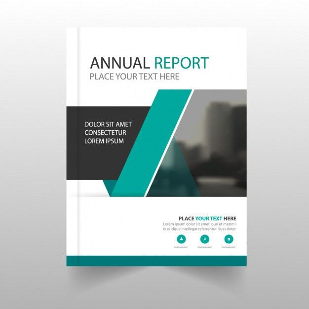 Modern annual report with geometric shapes Vector | Free Download