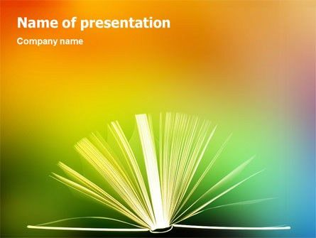 Book PowerPoint Template, Backgrounds   02010   PoweredTemplate.com