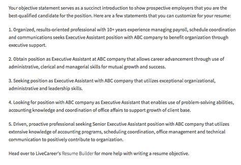 Executive Assistant Resume Objectives - http://resumesdesign.com ...