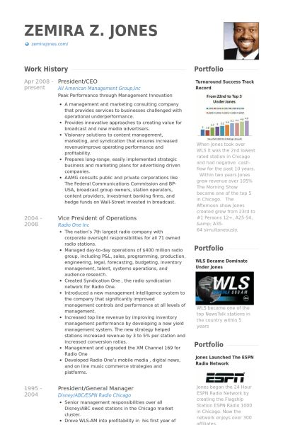 President / Ceo Resume samples - VisualCV resume samples database