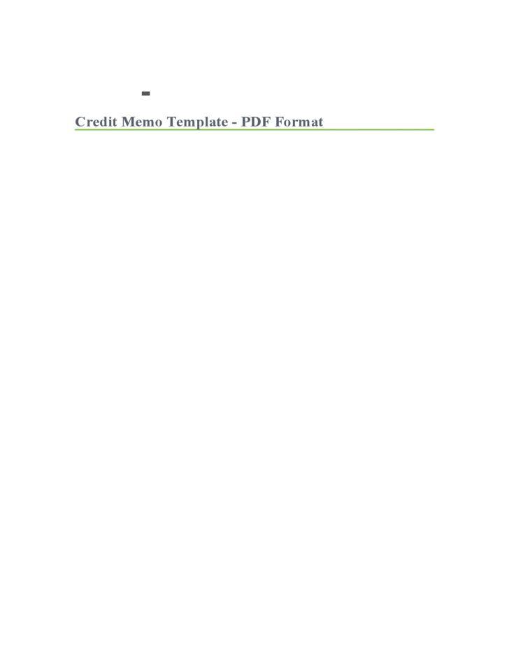 free credit memo template download
