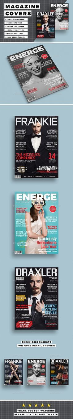 Business Magazine Cover Template | Magazine cover template, Cover ...