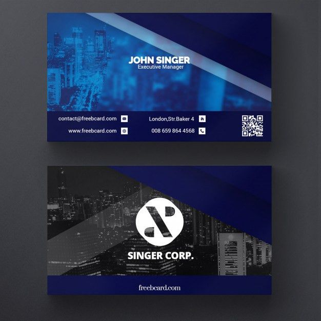 Corporate business card template PSD file | Free Download