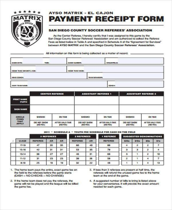 40 Sample Receipt Forms