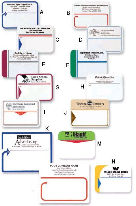 Custom PreDesigned Shipping Labels - Custom Mailing Labels