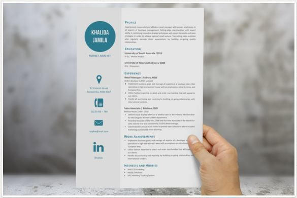 Modern big icon cv template http://textycafe.com/best-professional ...