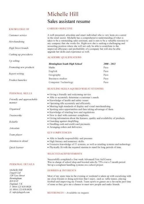 12 Free Resume Samples For High School Students Hloom First Cv No ...