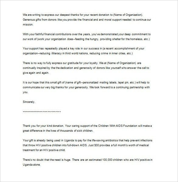 Sample Business Thank You Letter – 10+ Free Sample, Example Format ...