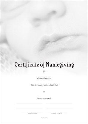 Designer Certificates - Naming Certificates