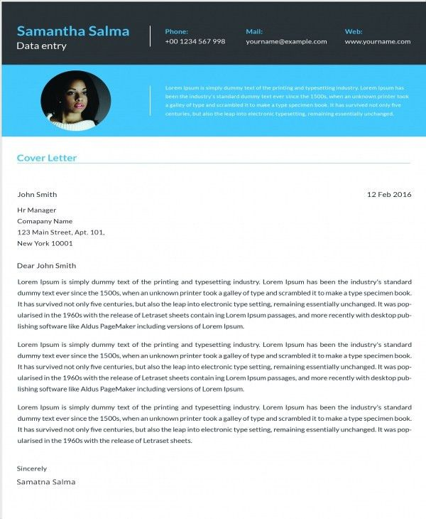 9+ Cover letter Templates and Examples | Free & Premium Templates