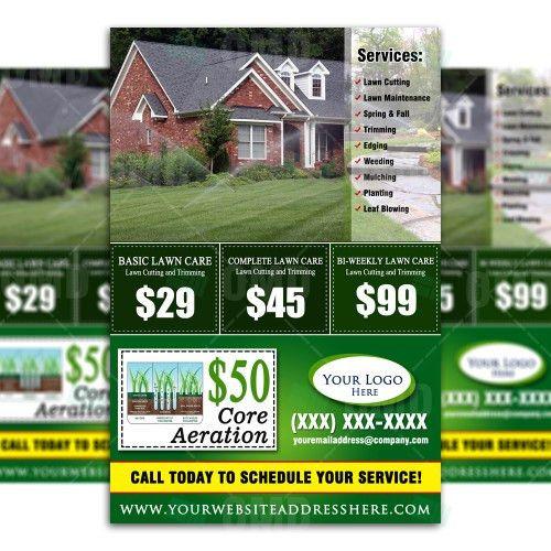 Flyer & Ticket Bundle – Lawn Care Branding – The Lawn Market