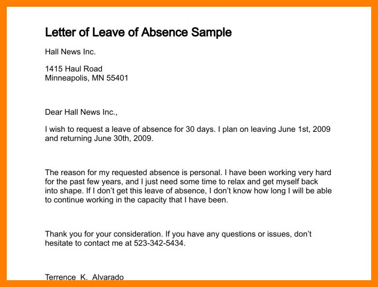 7+ application leave of absence | packaging clerks
