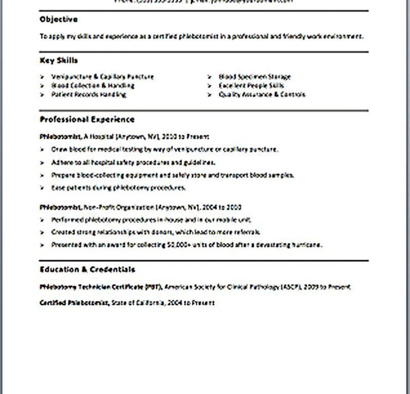 Sweet Design Phlebotomy Cover Letter 12 Resume Samples - CV Resume ...
