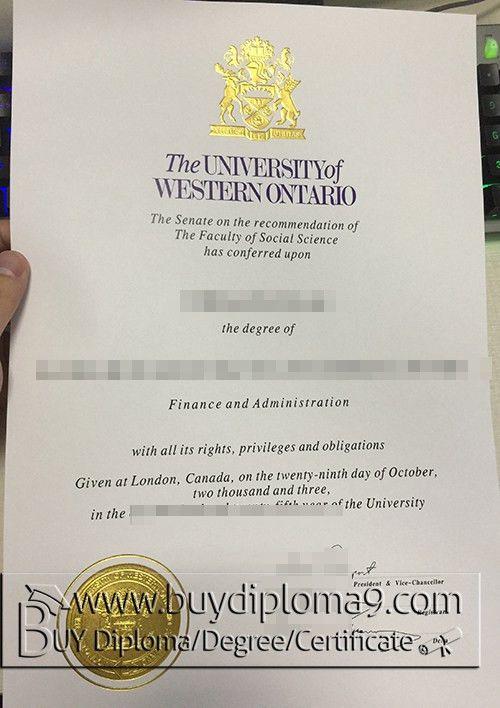 university of WESTERN ONTARIO degree, Buy diploma, buy college ...