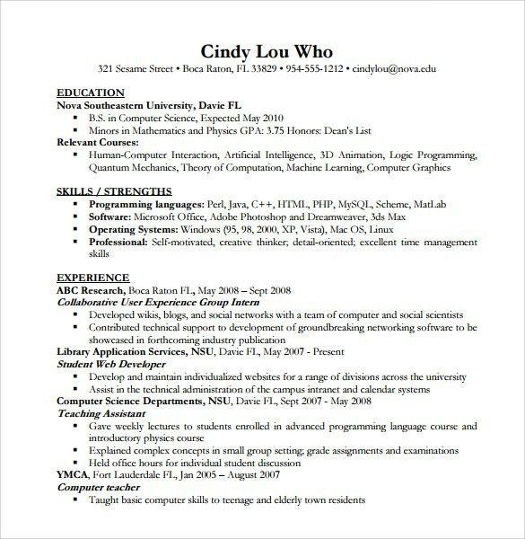 Computer Science Resume. What You Will Include In The Computer ...