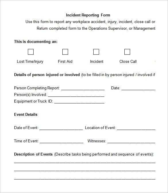 5 Employee Incident Report Templates – Free PDF, Word Documents ...