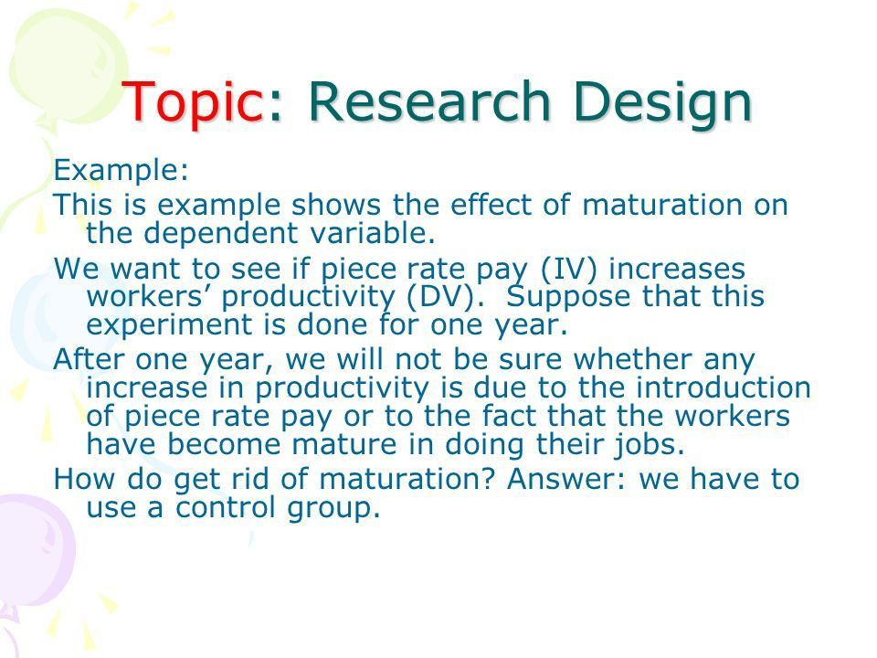 Topic: Research Design Introduction : Any researcher who wants to ...