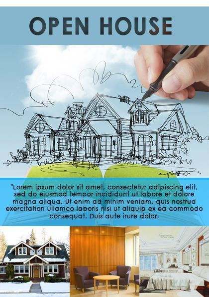 Real Estate Open House Flyer | Open House Flyer Ideas | Pinterest ...