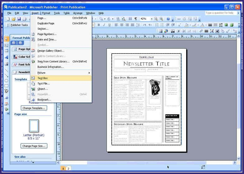 Free Microsoft Publisher Resume Templates. help for resume cv ...