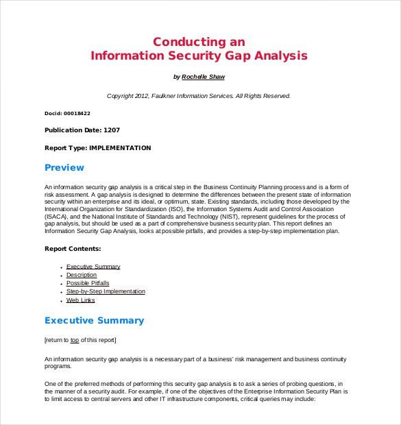 Gap Analysis Template – 10+ Free Word, Excel, PDF Documents ...
