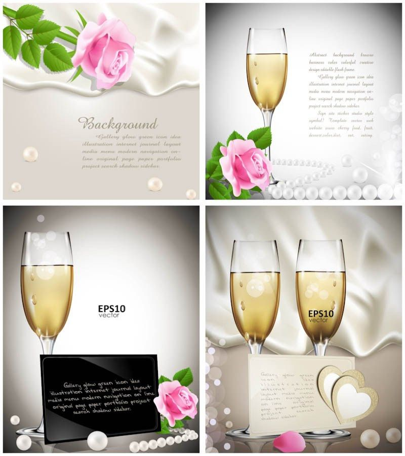 Wedding congratulation cards vector | Vector Graphics Blog