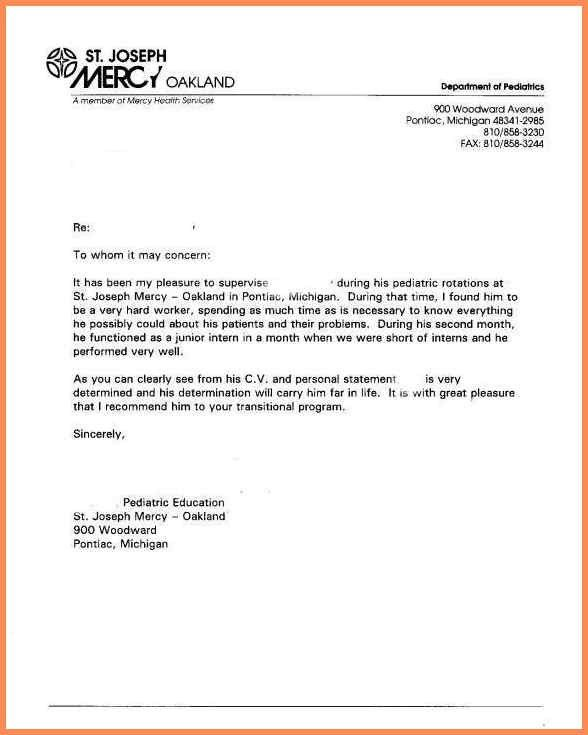 Letter Of Reference Template.recommendation Letter Samples Sample ...