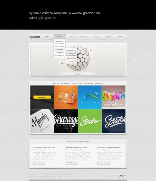 Dynamic : Free General Website Template (Psd) | Psd templates, Ui ...