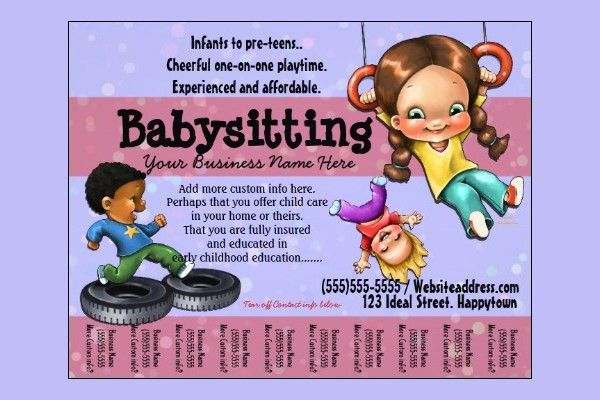 10+ Fabulous PSD Baby Sitting Flyer Templates | Free & Premium ...