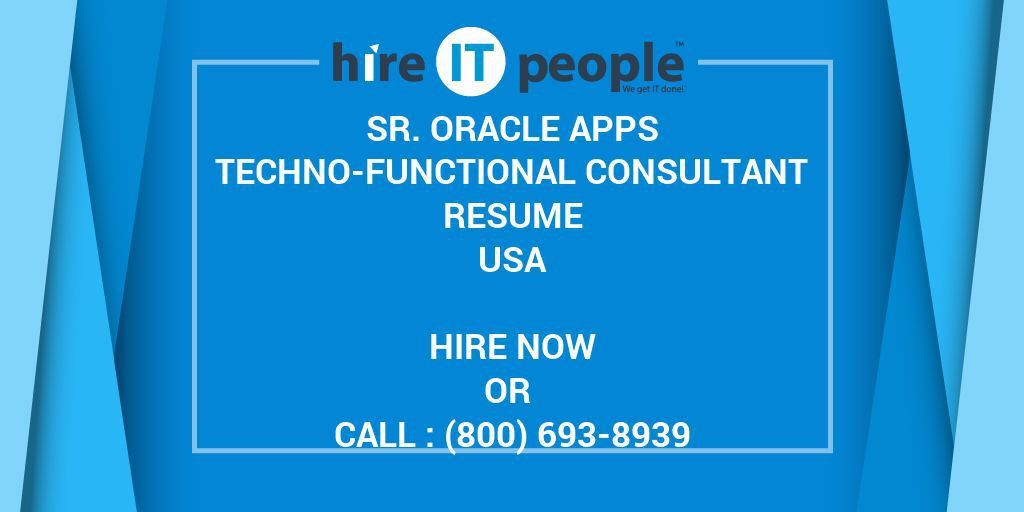 Sr. Oracle Apps Techno-Functional Consultant Resume - Hire IT ...